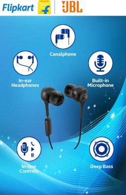 JBL T200A Wired Headset with Mic(Black, In the Ear) Flipkart