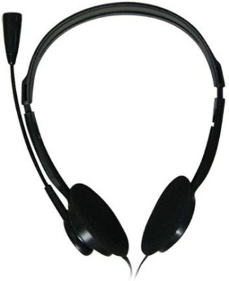 Intex Standard Black Wired Headset With Mic(Black)
