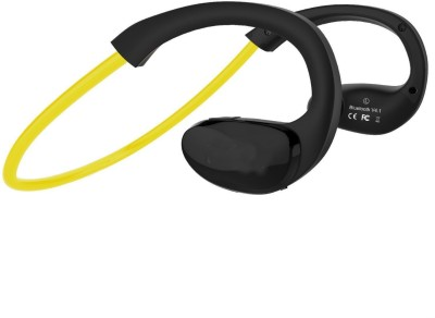 Shrih In-Ear V4.1 Lightweight Sports Bluetooth Headset with Mic(Yellow, Black, In the Ear) 1
