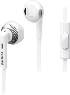 Philips SHE3205WT/00 Wired Headset with Mic(White, In the Ear)