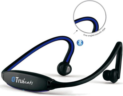 Medulla MED81 Trubeats Air BT Wireless Behind the Neck Headset Bluetooth Headset with Mic(Blue, Over the Ear) 1