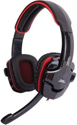 Zebronics Iron Head 7.1 Surround Sound Wired Headset(Black, Wired over the head)