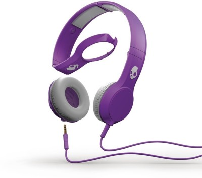 Skullcandy Cassette S5CSDY-210 Premium with Mic Wired Headset with Mic(Purple, Over the Ear) 1