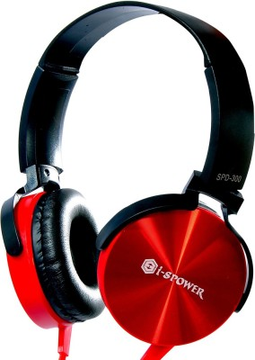 Is Power SPD-300 Superior Sound Isolation with deep bass Booster Wired Headset with Mic(Red, Over the Ear) 1