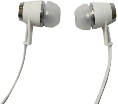 99 Gems Universal Wired Headset with Mic(White, In the Ear) 1