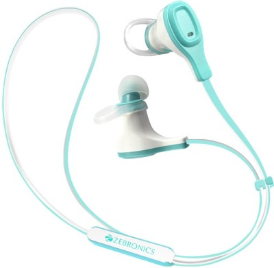 Zebronics BH370 Bluetooth Headset with Mic(Blue, White, In the Ear) 1
