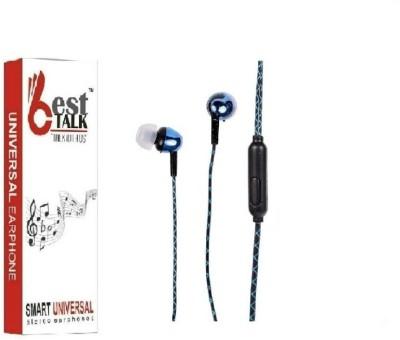 BESTTALK BT-101 Bass Pro Headphones(Blue, In the Ear)