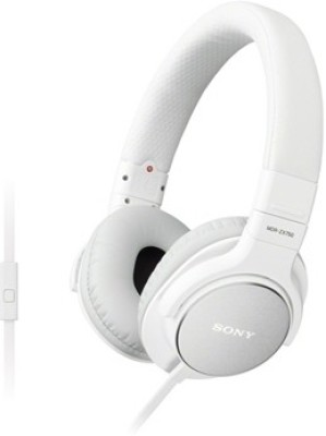 Sony MDR-ZX750AP Wired Headset with Mic(White, Over the Ear) 1