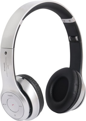 REJUVENATE S460 WIRED & WIRELESS WITH TF CARD SUPPORT Bluetooth Headset(Silver, On the Ear)