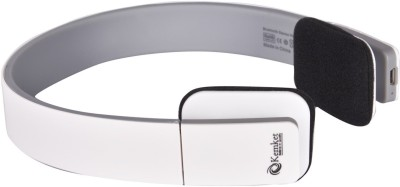 Kemket HIGH COMPATIBILITY Bluetooth Headset with Mic(White, On the Ear) 1