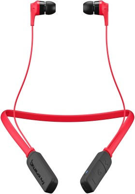 Skullcandy S2IKW-J335 Bluetooth Headset with Mic(Red/Black, In the Ear)