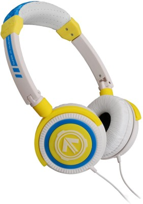 AERIAL7 Phoenix Citron On-the-ear Headset(White & Yellow, Over the Ear)
