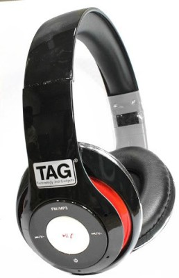 TAG BH-1000 Wired, Bluetooth Headset with Mic(Black, On the Ear) 1