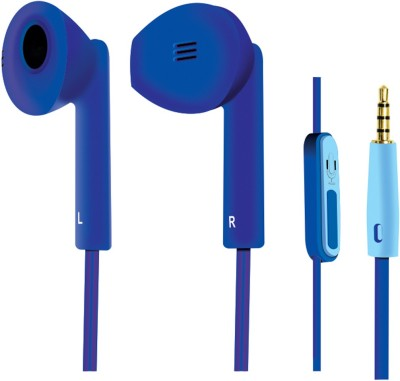 Portronics Por 129 Wired Headset with Mic(Blue, In the Ear) 1