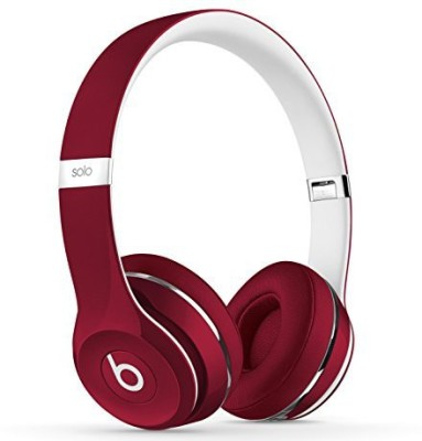 Beats Dr Dre Solo2 Wired On-Ear Headphones (Luxe Edition) Red ML9G2PA/A Bluetooth Headset with Mic(Red, On the Ear)