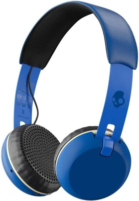 Skullcandy Grind Bluetooth Headset with Mic(Royal Blue, On the Ear)