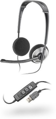 Plantronics Audio 478 Stereo USB Wired Headset with Mic(Black, Over the Ear) 1