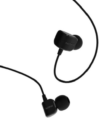 Remax 502 Wired Headset with Mic(Black, In the Ear) 1