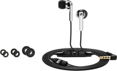 Sennheiser CX 180 Wired Headphone(Black, Grey, In the Ear)