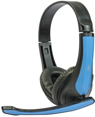TAG 120 Wired Headset With Mic(Blue)