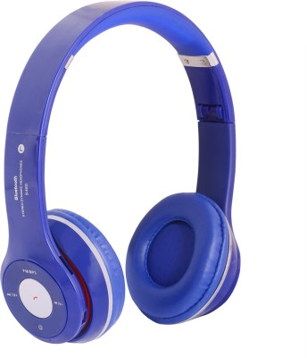 REJUVENATE S460 WIRED & WIRELESS Wired, Bluetooth Headset with Mic(Blue, Over the Ear) 1