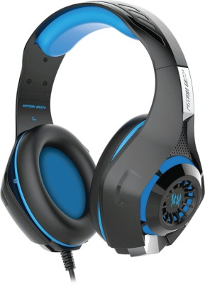 Kotion Each GS410 Black/Blue Wired Headset With Mic