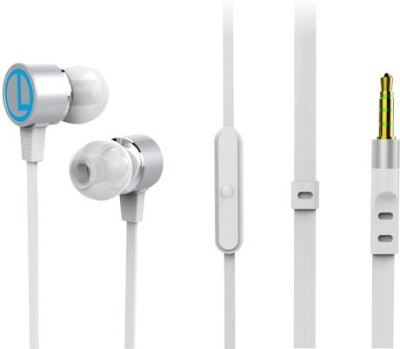 Portronics Conch 202,POR 615 Wired Headset with Mic(White, In the Ear)  available at flipkart for Rs.499