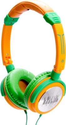 iDance Crazy 401 Wired Headset with Mic(Orange and Green, Over the Ear) 1