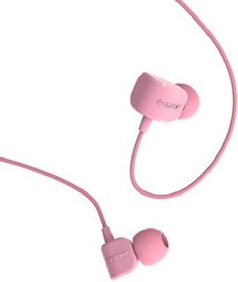 Remax 502 Wired Headset with Mic(Pink, In the Ear) 1