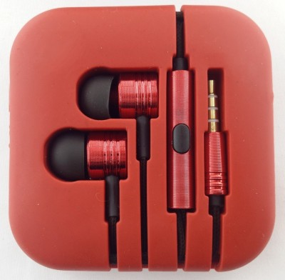 Ubon Big Daddy Bass Gionee F103 Stero Dynamivc Wired Headset with Mic(Red, In the Ear) Flipkart