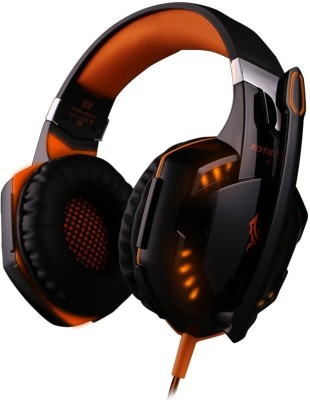 Kotion Each Cosmic Byte G2000 Wired Gaming Headphones(Orange, Over the Ear)