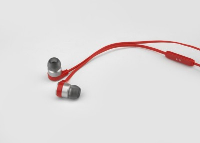Cowon EK2 Wired Headset with Mic(Red, In the Ear)