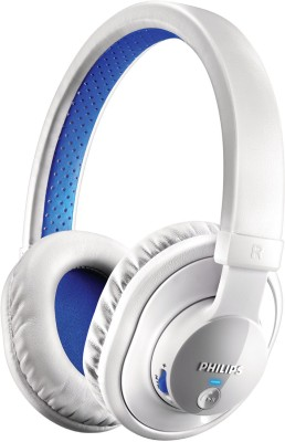 Philips SHB7000WT/00 Wired, Bluetooth Headset with Mic(White, Over the Ear) 1