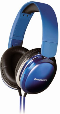 Panasonic RP-HX350ME Wired Headset with Mic(Blue, Over the Ear) 1