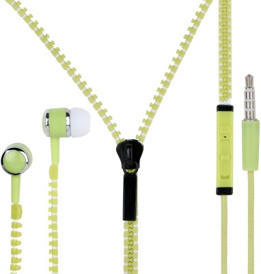 Zipper MRS 149 Wired Headset with Mic(Green, White, In the Ear) 1