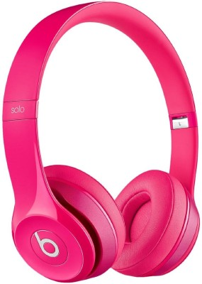 Beats Solo2 - MHBH2ZM/A Wired Headset with Mic(Pink, On the Ear) 1