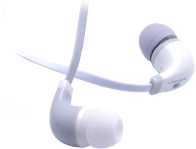 Zebronics EM 750 with mic Wired Headset with Mic(White, In the Ear) 1