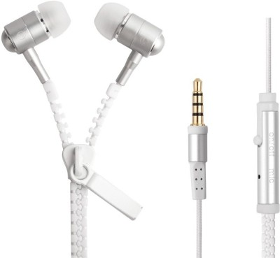 Dinosaur Drivers Zipper Tangle Free Fashion With Mic Wired 3.5mm for Mobile Tablet PC Mp3 Mp4 Player Wired Headset with Mic(White, In the Ear)  available at flipkart for Rs.299
