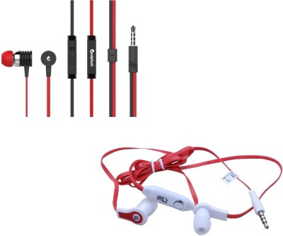 Candytech Stereo Dynamic Handsfree Gaming Wired Earphones Combo HF-S-40-RD+HF-FW-RD Wired Headset with Mic(Red, Red, In the Ear)  available at flipkart for Rs.348