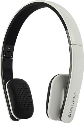 d3af5d9c1a7 Zebronics Happy Head White Bluetooth Headset with Mic(White, On the Ear)