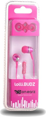 On Earz Lollibuds Wired Headset with Mic(Pink, In the Ear) 1