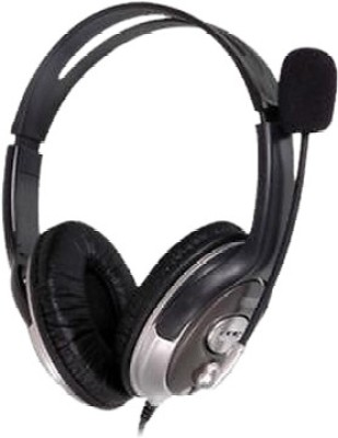 HP B4B09PA Wired Headset(Black, On the Ear)