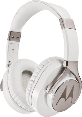 Motorola Pulse Max Wired Headset with Mic(White, Over the Ear)