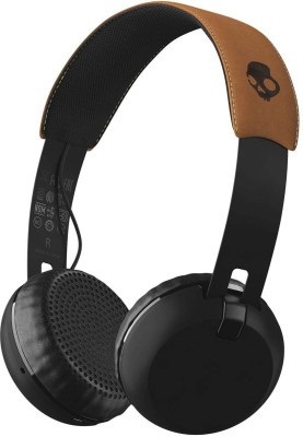 Skullcandy S5GBW-J543 Grind Headset with Mic(Black Tan, On the Ear) at flipkart