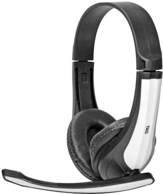 TAG 120 Wired Headset With Mic(White)