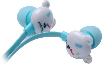 Zebronics Funky Bear Wired Headset with Mic(Blue, In the Ear)  available at flipkart for Rs.249