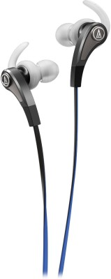 Audio Technica Sonic Fuel with In-line Mic Wired Headset with Mic(Silver, In the Ear) 1
