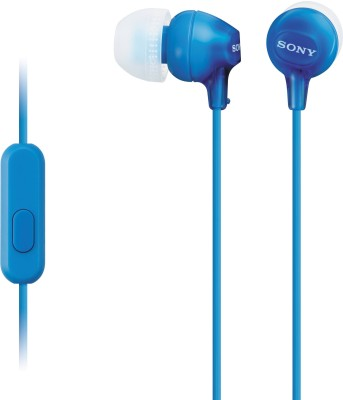 Sony MDR-EX15AP_Blue Wired Headset with Mic(Blue, In the Ear)