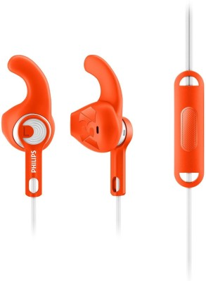Philips SHQ1305OR/00 Wired Headset with Mic(Orange, In the Ear)
