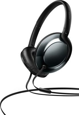 Philips SHL4805DC/00 Wired Headset with Mic(Black, Over the Ear)